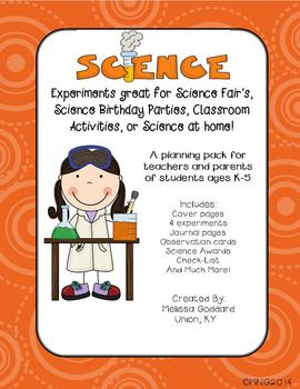 Science Experiments: great for Science Fair's, Science Bda