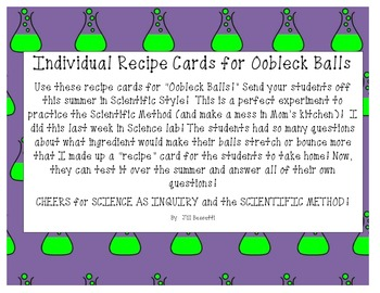 Science Experiments to Take Home:  Oobleck Balls!