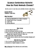 Science Exploration Activities for Elementary Students-Packet 3 of 3