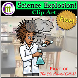 Science Explosion Clip Art | Oct 2017 Clip Artists Collab FREEBIE