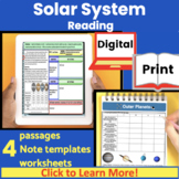 Solar System Expository Reading | Guided reading | Close Reading