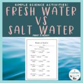 Simple Science Activities- Fresh Water vs. Salt Water