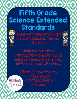 Science Extended Standards Fifth Grade Bundle