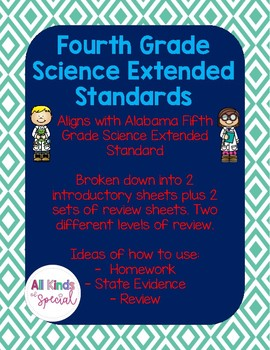 Science Extended Standards Fourth Grade Bundle