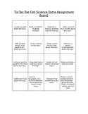 Science Extra Credit Tic Tac Toe Choice Board
