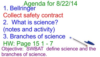 Science FCAT bellwork or review