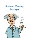 Science FLUENCY Passages    with chart and explicit instructions