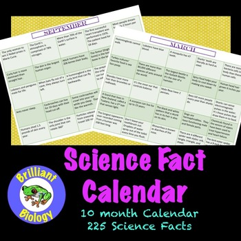 Science Fact Calendar