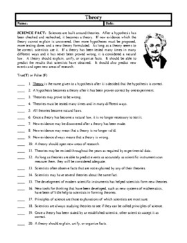 Science Fact Worksheets, Activities and Handouts