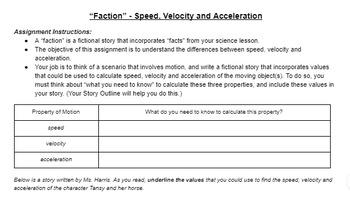 "Science ""Faction"" Lesson - Speed, Velocity and Acceleration"