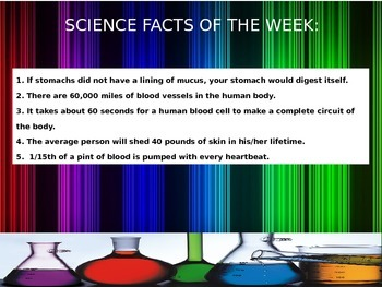 Science Facts of the Day Power Point