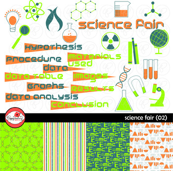 Science Fair (02) Clipart and Digital Paper by Poppydreamz