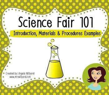 Science Fair 101: Introduction, Materials & Procedures {Example Handout}