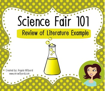 Science Fair 101: Review of Literature {Example Handout}