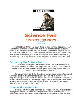 Science Fair- A Parent's Perspective