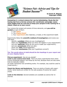 Science Fair: Advice and Tips for Student Success