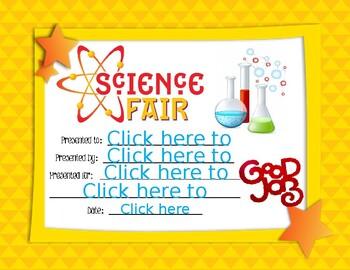 Science Fair Award 3