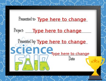 Science Fair Award 5