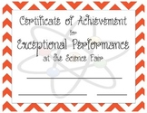 Printable: Science Fair Award Certificate