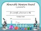 Science Fair Award Certificates