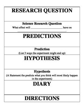 Science Fair Board Cards