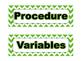 Science Fair Board Category Headings (Green Chevron)