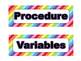 Science Fair Board Category Headings (Rainbow Stripe)