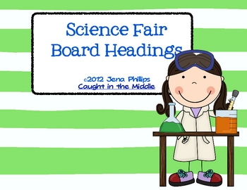 Science Fair Board Headings Freebie