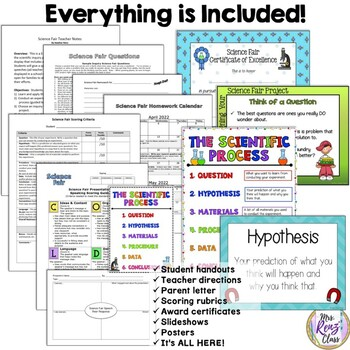 Science Fair, Science Inquiry Project (Fully Editable)