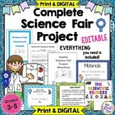Science Fair - A Science Inquiry Project for Grades 3-5 (Editable)