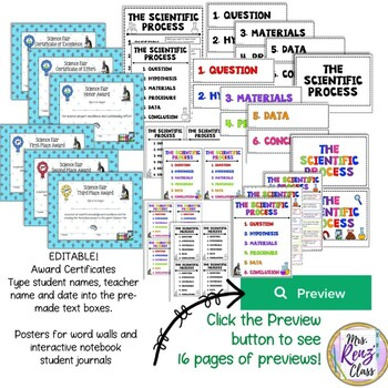 Science Fair - A Science Inquiry Project for Grades 3-5 Editable DIGITAL USE OK