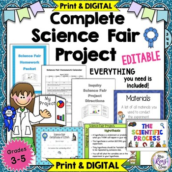 Science Fair Inquiry Project (Fully Editable)