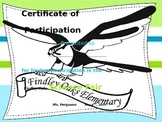 Science Fair Certificate of Participation