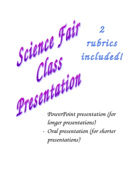 Science Fair Class Presentations