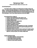Science Fair Complete Project Guide Packet