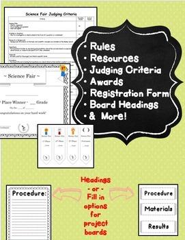 Science Fair Coordinator: Rules, Templates, Judging Criteria, & Awards