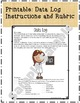 11 Science Fair Data Log PowerPoint Lesson with Directions & Rubric