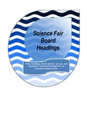 Science Fair Display Board Titles