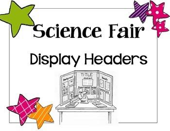 Scientific Method Display Headers!