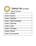 Science Fair Experiment Student Process Forms