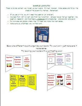 Science Fair (Forms to help students choose a project/Help with Display Board)