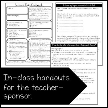 Science Fair: Guide, Rubrics, Contracts, and more!