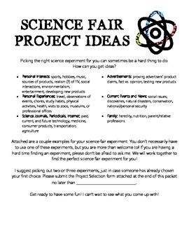 Science Fair Ideas Flyer