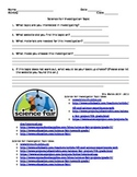 Science Fair Investigation Choice Worksheet