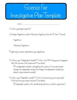 Science Fair Investigative Plan Template