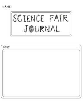 Science Fair Journal & Labels