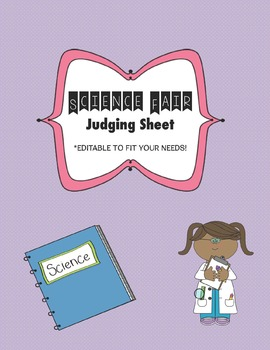 Science Fair: Judge Sheet