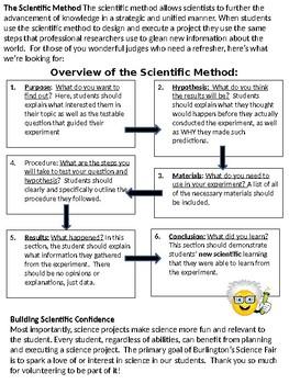 Science Fair Judge's Info and ScoreSheet