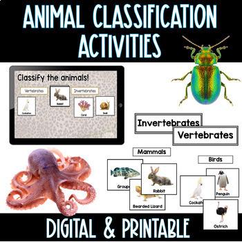 Digital & Printable Animal Classification Activities