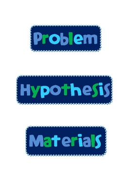 Science Fair Labels